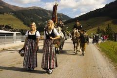 Oktoberfest in Gerlos Austria stock photography