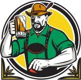 Oktoberfest German Beer Drinker Circle Retro Royalty Free Stock Images