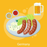 Oktoberfest germany food Royalty Free Stock Photography