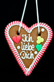 Oktoberfest Gingerbread Heart Royalty Free Stock Photo