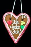 Oktoberfest Gingerbread Heart. Gingerbread Oktoberfest heart saying I love you royalty free stock photo