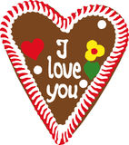 Oktoberfest Gingerbread Heart Stock Images