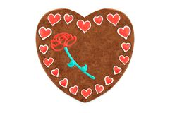 Oktoberfest Gingerbread heart cookie with ornaments and copy space. Oktoberfest is a october fest in munich germany for beer and bavarian food stock photography