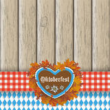 Oktoberfest Gingerbread Heart Foliage Cloth Stock Photos