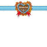 Oktoberfest Gingerbread Heart Foliage Ribbon Royalty Free Stock Photos