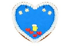 Oktoberfest Gingerbread heart Stock Photography