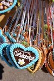 Oktoberfest. Gingerbread hearts at Oktoberfest in Munich Germany Royalty Free Stock Images