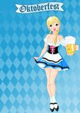 Oktoberfest girl Stock Photos