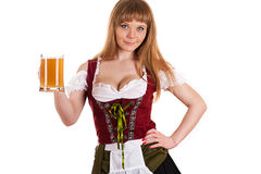 Oktoberfest girl with beer Royalty Free Stock Images