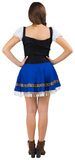 Oktoberfest girl standing with hands on hips Stock Photo