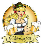 Oktoberfest girl1 Royalty Free Stock Images