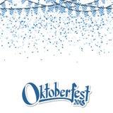 Oktoberfest 2018 girland z confetti Fotografia Stock