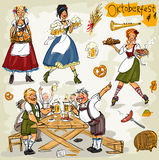 Oktoberfest - hand drawn collection - part 1 Royalty Free Stock Photo