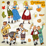 Oktoberfest - hand drawn collection - part 2 Stock Image