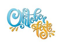 Oktoberfest handwritten lettering header. Oktoberfest typography title vector design. Oktoberfest handwritten lettering header. Design template event celebration royalty free illustration
