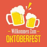 Oktoberfest typography vector design for greeting cards and poster. Beer Festival vector banner. royalty free illustration