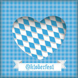 Oktoberfest Heart Hole. Oktoberfest design on the white background Stock Image