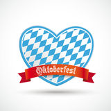 Oktoberfest Heart Red Banner Stock Images