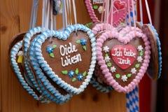 Oktoberfest hearts royalty free stock image