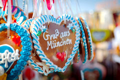 Oktoberfest Hearts Stock Images
