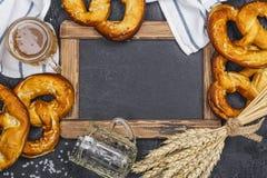 Oktoberfest-Hintergrund, Kopienraum lizenzfreies stockfoto