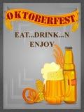 Oktoberfest holiday festival greeting background of Germany stock illustration