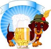 Oktoberfest Hund stock abbildung