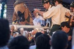 Oktoberfest i villageneral Belgrano Arkivbilder