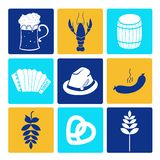 Oktoberfest icons Royalty Free Stock Images