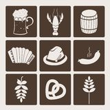 Oktoberfest icons Royalty Free Stock Photography