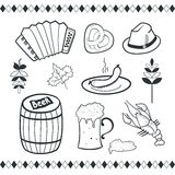 Oktoberfest icons set Royalty Free Stock Photos