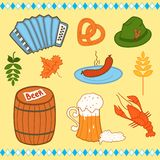 Oktoberfest icons set Stock Photography