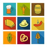 Oktoberfest icons set Royalty Free Stock Photo