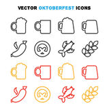 Oktoberfest icons set Stock Photos