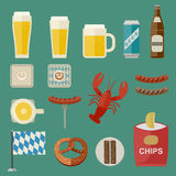 Oktoberfest Icons Stock Photography