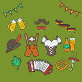 Oktoberfest icons Stock Images