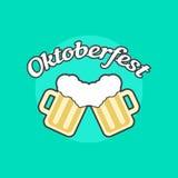 Oktoberfest ikona z Toby dzbankami royalty ilustracja