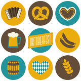 Oktoberfest-Ikonen-Sammlung Lizenzfreie Stockbilder