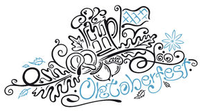 Oktoberfest-Illustration Stockfotos