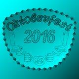 Oktoberfest 2016 Ilustraciones drenadas mano Imágenes de archivo libres de regalías