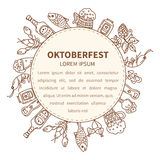 Oktoberfest invitation template Royalty Free Stock Image