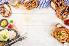 Oktoberfest jedzenia pojęcie Zdjęcie Stock