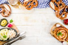 Oktoberfest jedzenia pojęcie Obrazy Royalty Free