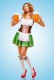Oktoberfest Kellnerin Lizenzfreie Stockfotografie
