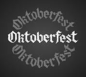 Oktoberfest-Kreidebeschriftung Einziges Wort stock abbildung