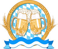 Oktoberfest  label design Stock Image