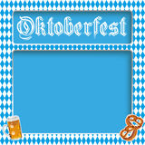 Oktoberfest Layout Bavarian Colors Stock Photography
