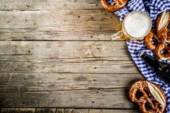 Oktoberfest-Lebensmittelkonzept stockfoto