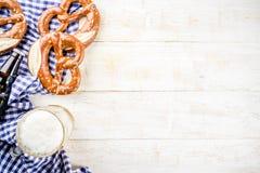Oktoberfest-Lebensmittelkonzept stockbild