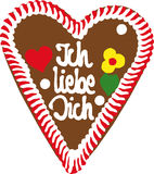 Oktoberfest Lebkuchen-Inneres Lizenzfreie Stockfotos